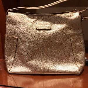 KATE SPADE GOLD LEATHER HANDBAG 14x11